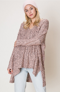Marled Cable Knit Sweater