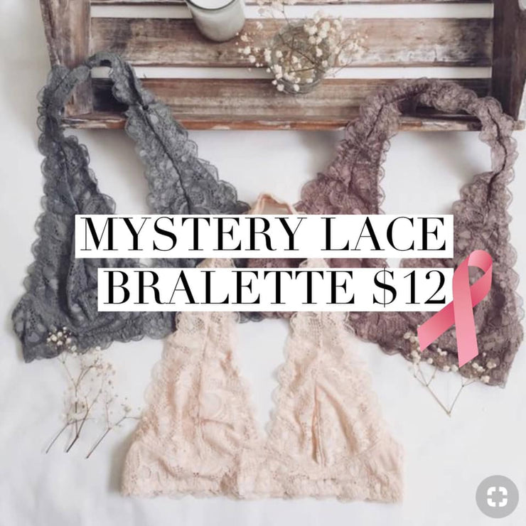 PRE-ORDER   Mystery Lace Bralette   (Est. Ship  OCTOBER)