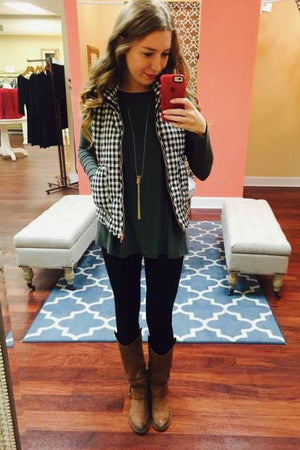 PRE-ORDER  Quilted Vest/PIKO  OOTD   estimated ship date:  October