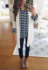 PRE-ORDER    Plaid and Cardi  OOTD  ships to us in 2-12 weeks    LEGGINGS