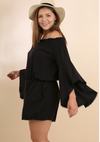 PLUS Bold in Black Romper (L-2XL)