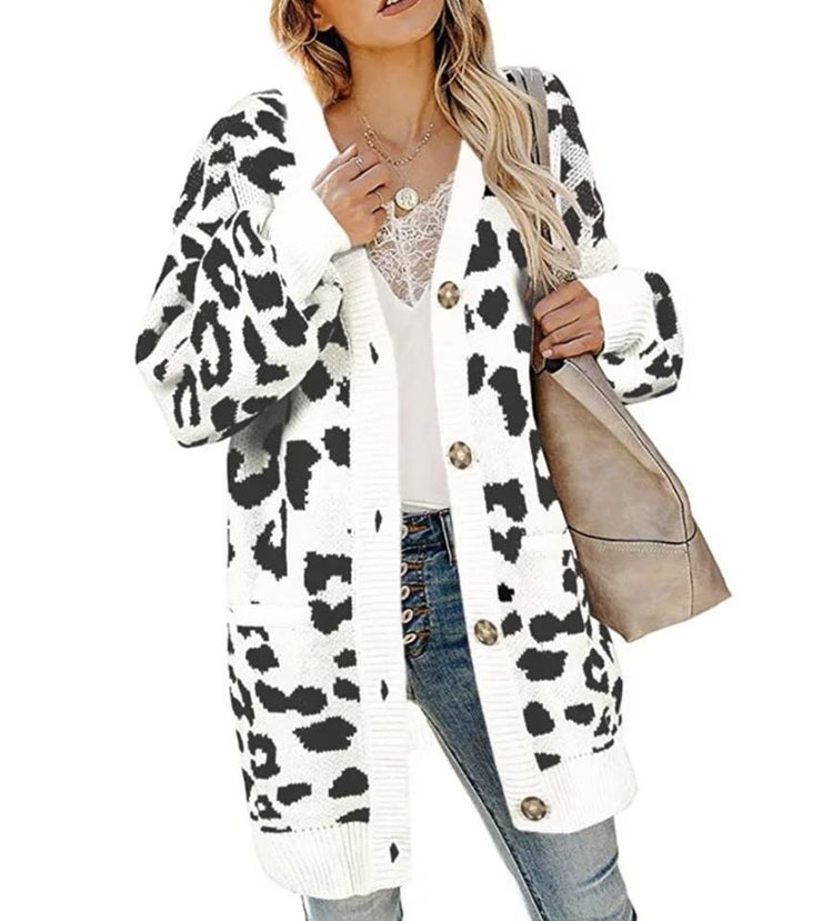 PRE-ORDER   Snow Leopard Cardi  (Est. Ship  DECEMBER)