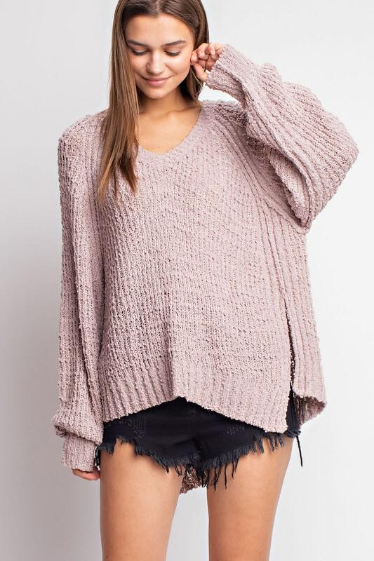 Slouchy Light Mauve Sweater