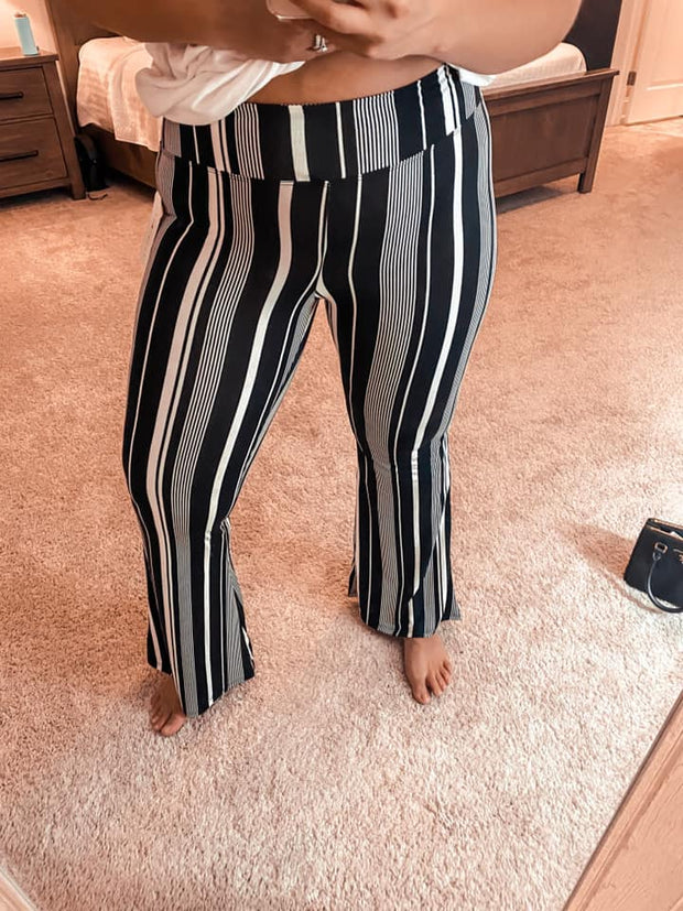 What A Catch Striped Palazzo Pants