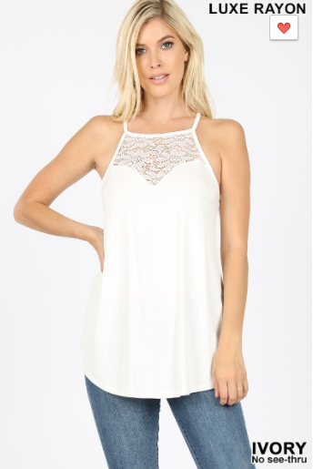 Life of Luxe Lace Tank - 3 Colors