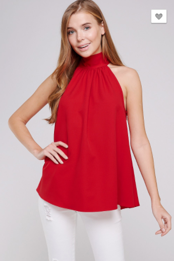 High Society Blouse - Red