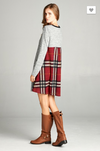 Plaid Addict Swing Dress