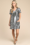 Silver Lining Sequin Shift Dress