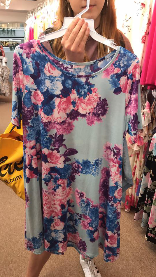 MARKET SPECIAL Blue Floral Tunic