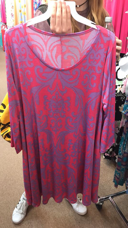 MARKET SPECIAL Pink/Purple Damask Dress