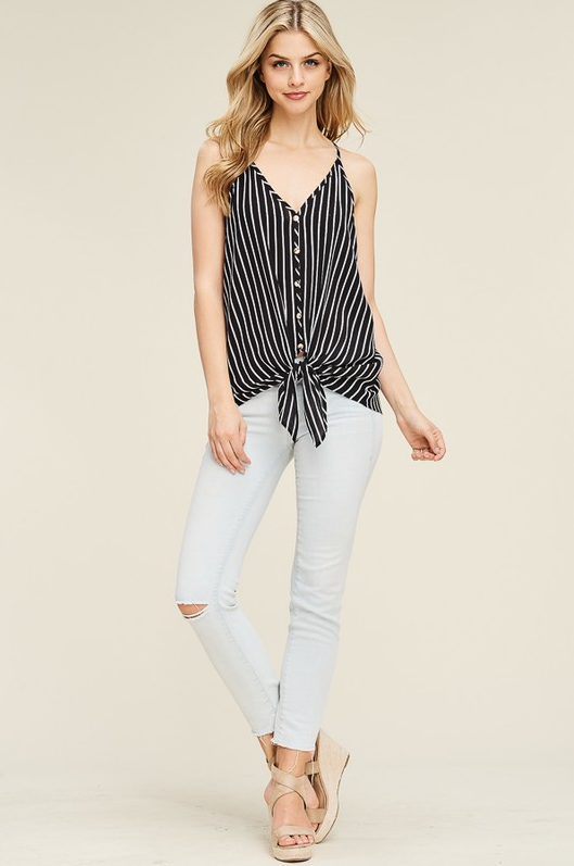 Little Striped Tie Tank