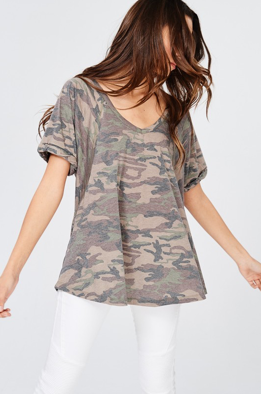 Favorite Camo V-Neck