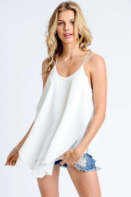 PRE-ORDER Cool Chiffon Tank (2 Colors) (Estimated Shipping Window: 6/15/18-6/30/18)