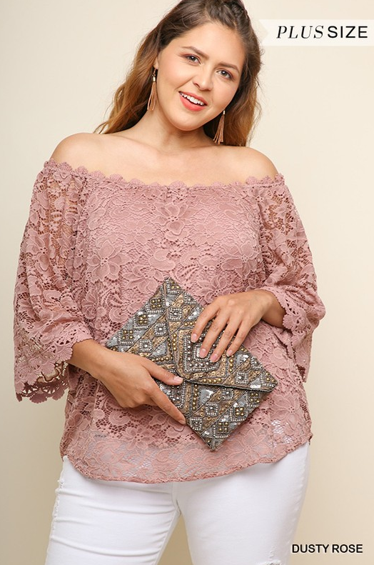 PRE-ORDER My Mauve Lace Top (Estimated Shipping Window 7/15/18-7/30/18)