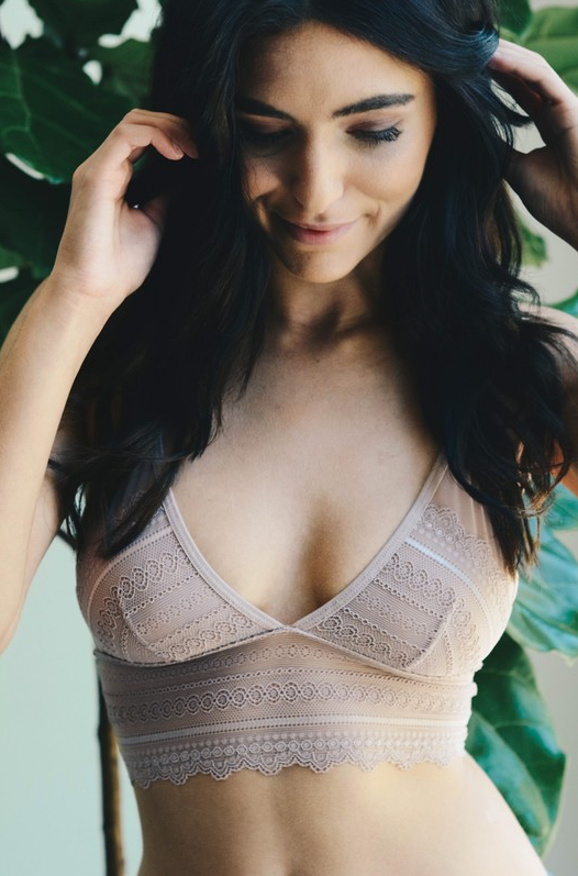 PRE-ORDER Premium Bralette - Taupe Open Back (Estimated Shipping Window 7/1/18-7/15/18)
