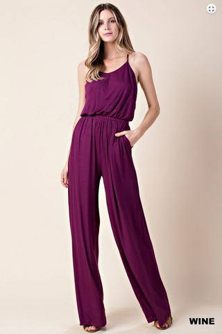 PRE-ORDER The Victoria Jumpsuit - 3 Colors (Estimated Shipping Window: 7/15/18-7/30/18 (Hunter Green); 7/30/18-8/15/18 (Wine and Black))