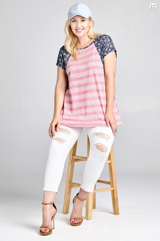 PLUS Pricilla Grace Top