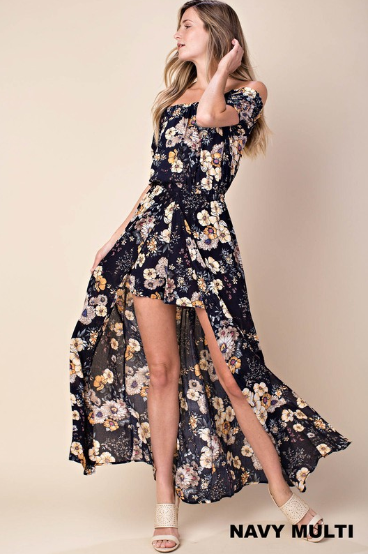 PRE-ORDER Sunflower Field Maxi Romper (Estimated Shipping Window 7/15/18-7/30/18)