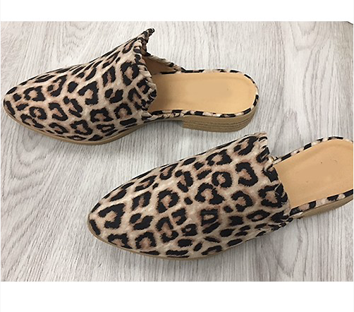 Lucy Leopard Slip Ons