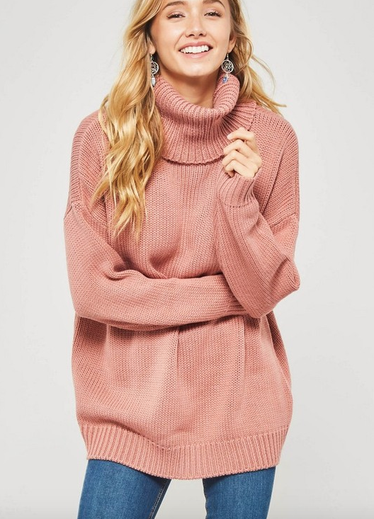 Mauve Cowl Neck Sweater (ASAP)