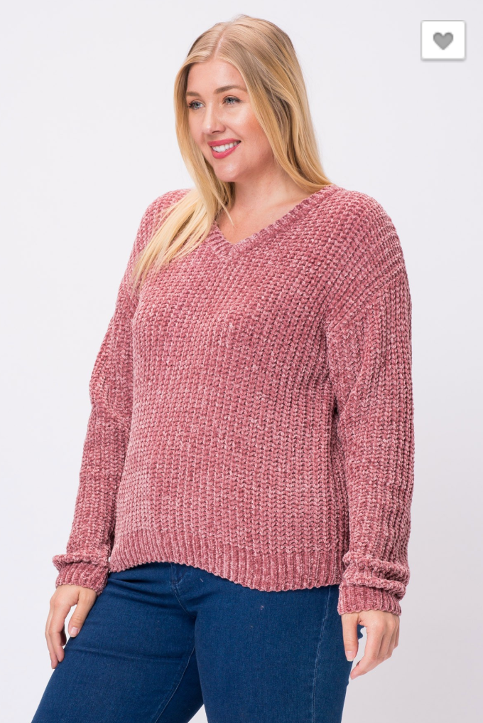 Cozy Nights Sweater PLUS (2 Colors)