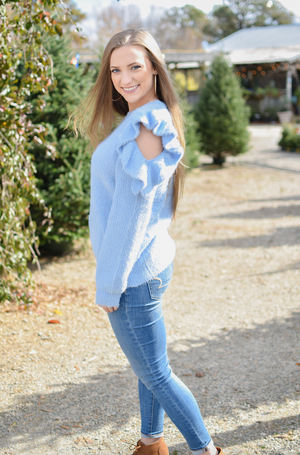 Baby Blue Eyes Sweater