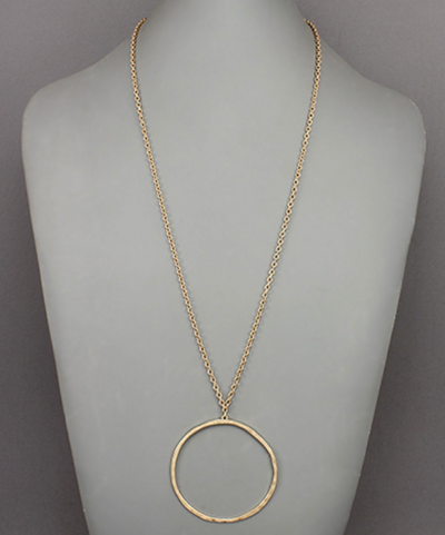 REORDER Golden Circle Necklace