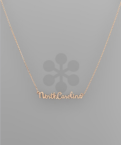 Rose Gold NC State Necklace