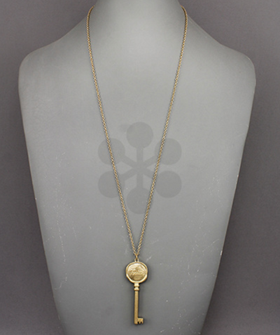 Faith Pendant Key Necklace