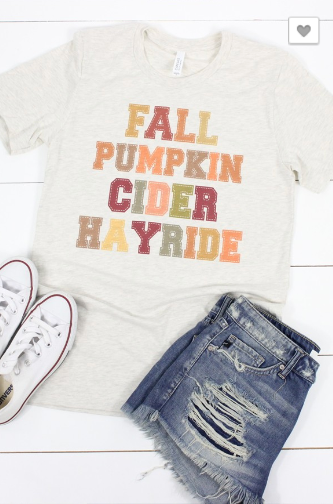 PRE-ORDER Fall Pumpkin Cider Hayride Tee (Estimated Ship ASAP)