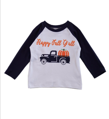 PRE-ORDER Happy Fall Raglan Tee (ESTIMATED SHIP ASAP)