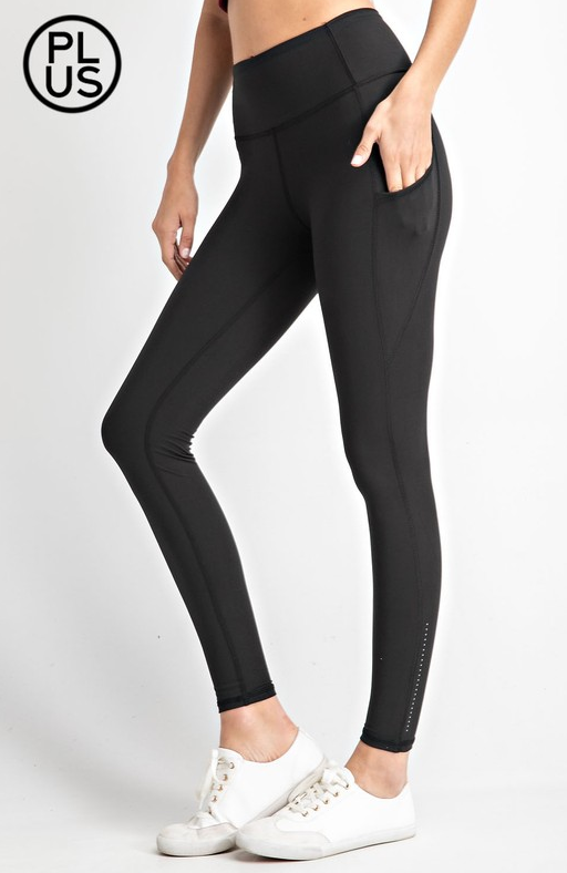 Essential Athletic Leggings-Black