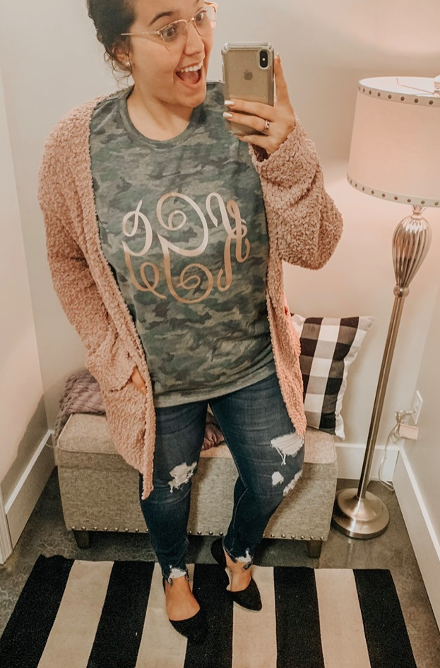 Pre-Order Camo Monogrammed Tee (Estimated Ship November)
