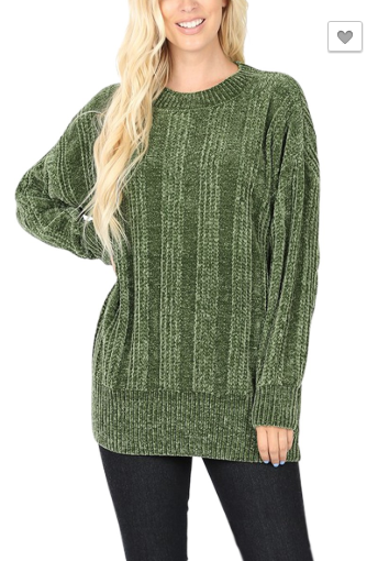 Ribbed Chenille-Green