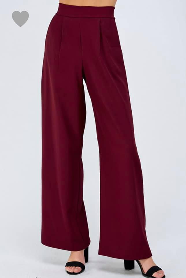 PRE-ORDER   Elastic Waist Dress Pants  (Est. Ship  ASAP)