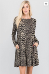 Wild for Fall Swing Dress
