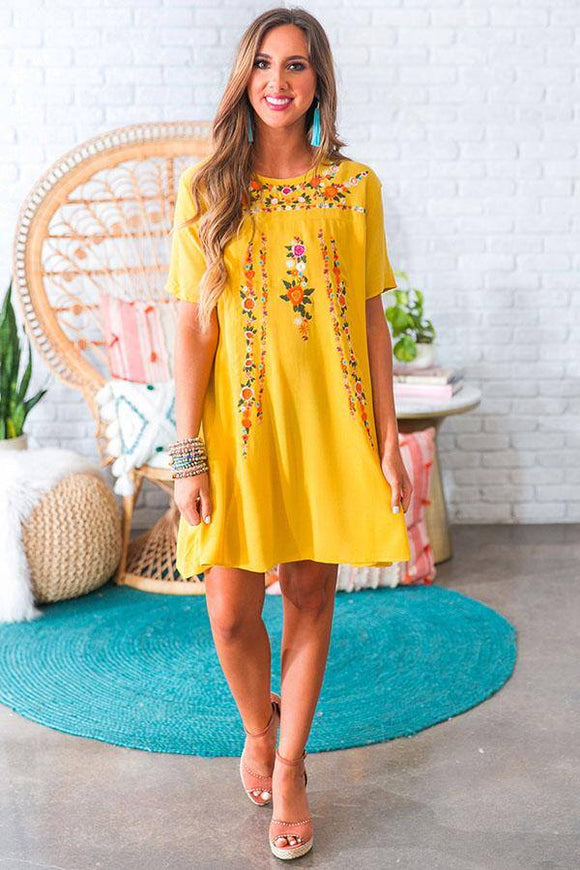American Honey Shift Dress