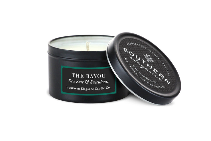 Southern Elegance Candle Co. - Travel Tin: The Bayou (Sea Salt & Succulents)