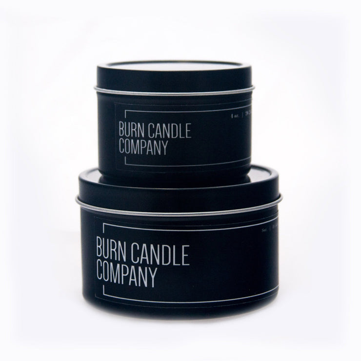 Burn Candle Company - Apple, Rosemary & Fig | Burn with Curiosity Candle 4oz Tin