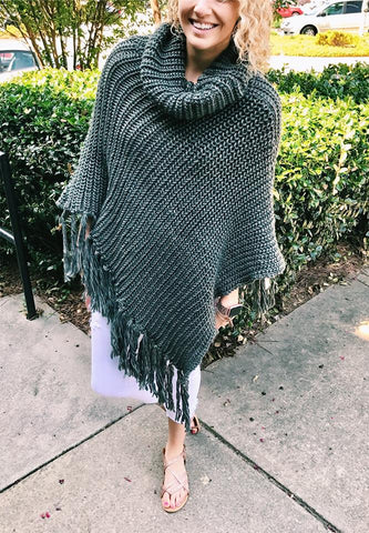 PRE-ORDER Fall Preview Poncho (Estimated Shipping Window 8/20/18-9/5/18)