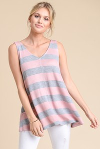Heather Striped Tank