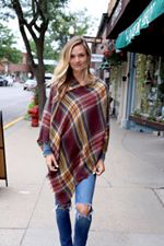 Pre-Order Blanket Scarf Plaid Poncho ESD November
