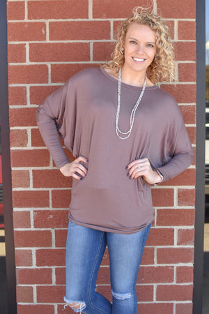Dolman Layering Top (4 Colors)