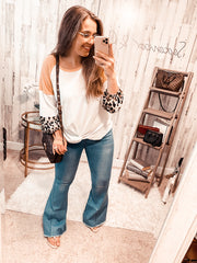 Best Selling Pull On Distressed Flares (Special Order - Guaranteed Shipment to you within 30 business days of your order date!)