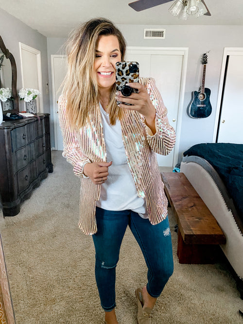 Show Your Sass Sequin Blazer (PRE-ORDER: The @betterwithchardonnay Collection)