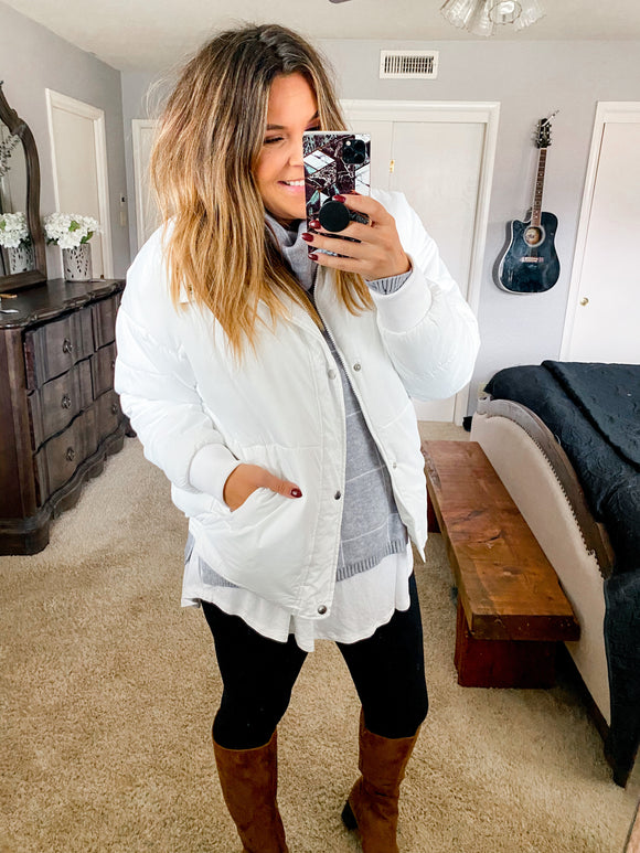 Home For The Holiday's Puffer Jacket (PRE-ORDER: The @betterwithchardonnay Collection)