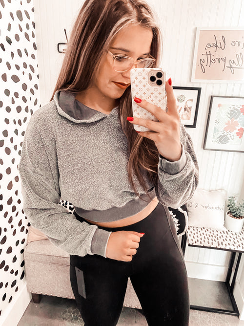 Snuggle Weather Soft Cropped Hoodie