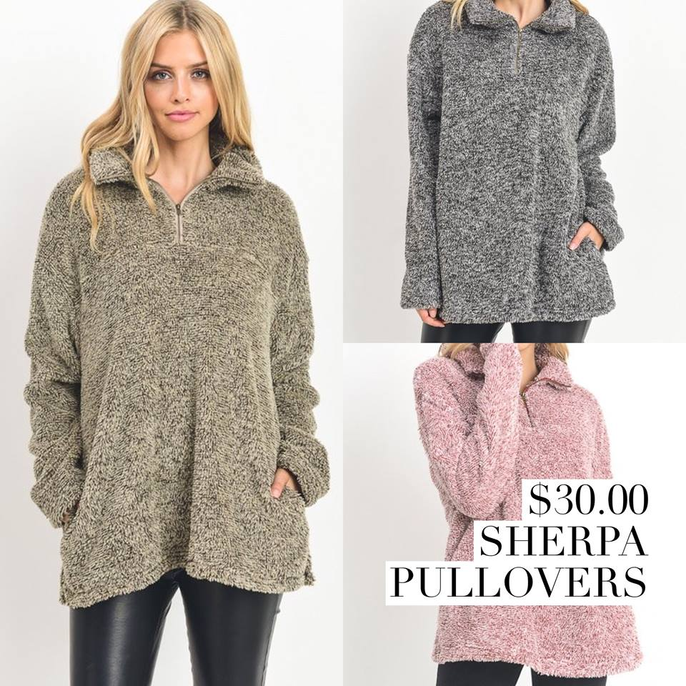 Cozy Sherpa Pullover