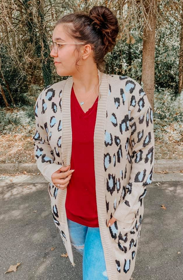 PREORDER - So Far I Leopard Cardigan (Ships to us S&C in October)