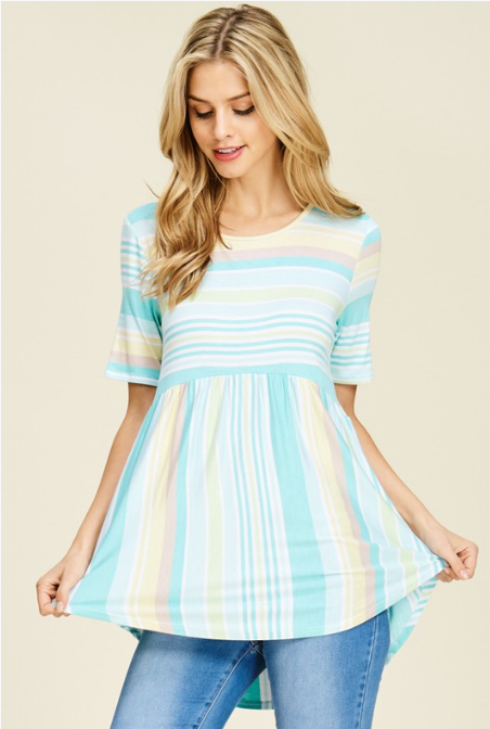 Sherbet Striped Top